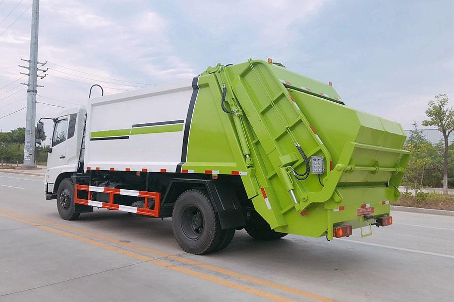东风8吨压缩垃圾车图片(放下小落地斗)