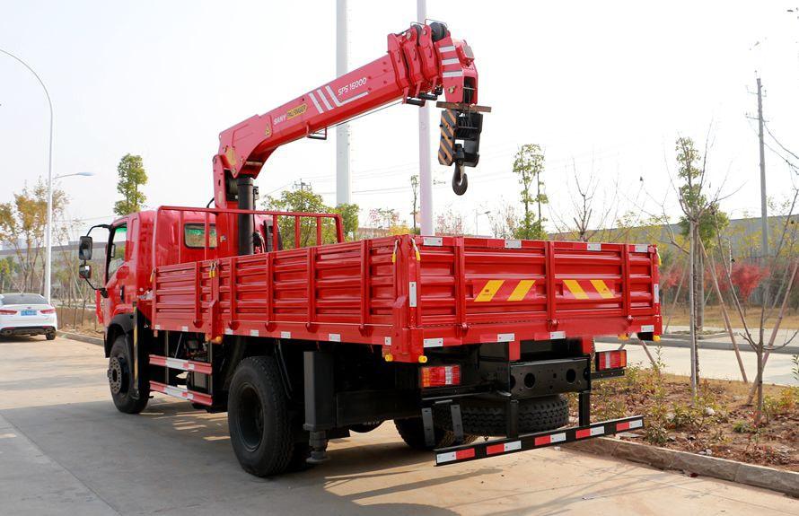 三一8吨随车吊后侧图片