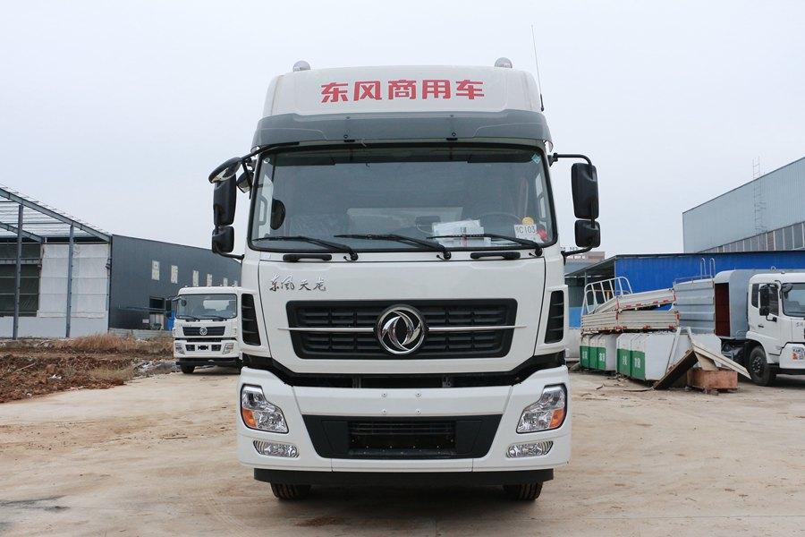 东风天龙9.6米冷藏车正前图片