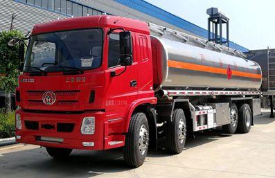 新款三环前四后六25吨铝合金油罐车评测
